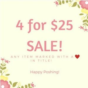 Other - ❤ 4/$25 SALE!!!